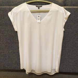 Express V neck casual blouse/top